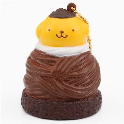 cute Pompompurin brown Mont Blanc squishy for bag