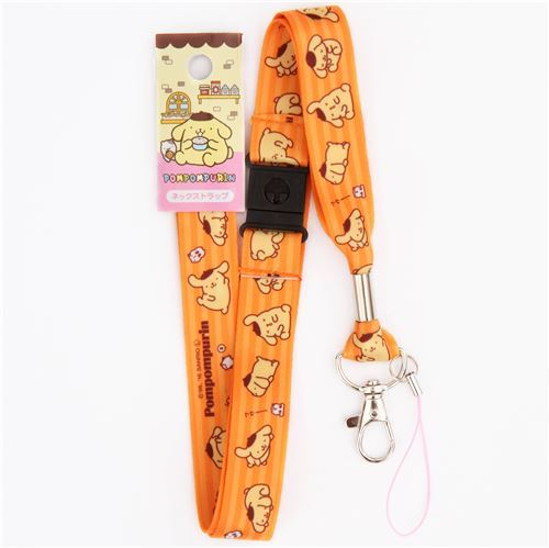 orange stripe Pompompurin dog animal lanyard