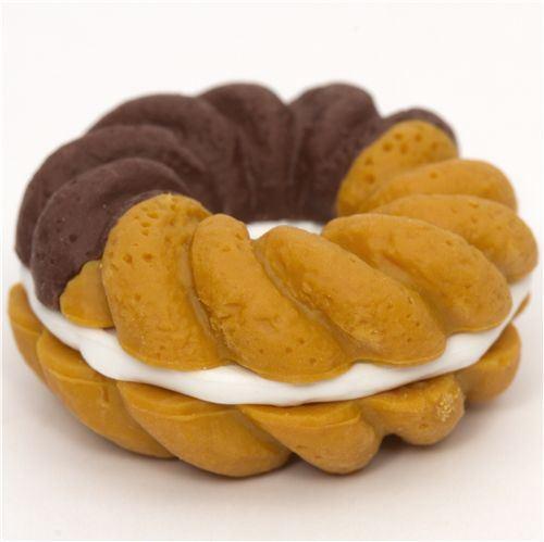 brown doughnut eraser French Pastry