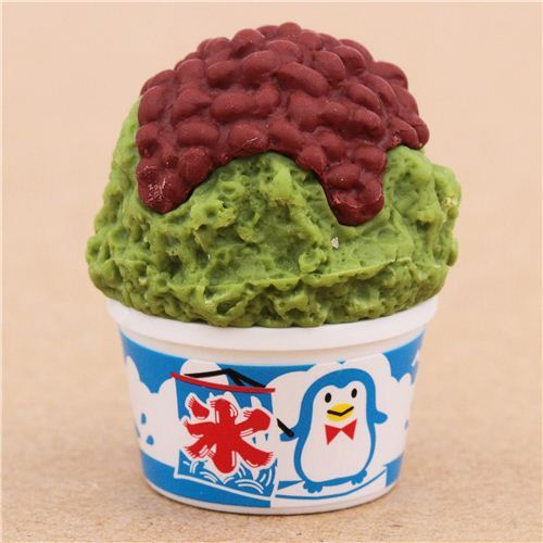 red bean green tea shaved ice dessert eraser by Iwako