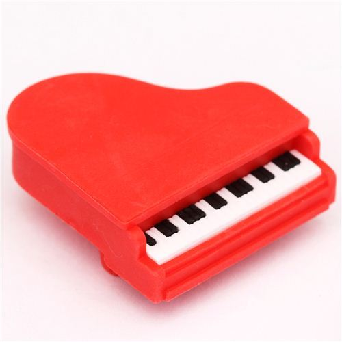 red piano grand piano eraser by Iwako from Japan