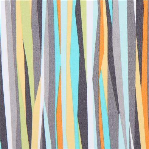 grey white Michael Miller fabric Current Stripe