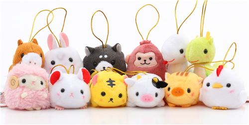 Amuse's Chinese Zodiac plush charms