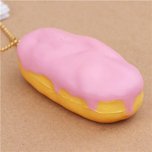 pink eclair squishy charm Cafe de N  cellphone charm Cafe de N