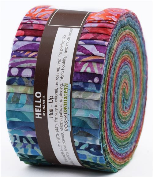 Roll-up fabric roll Complete Collection Robert Kaufman Tigerfish
