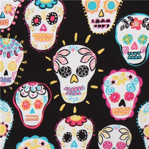 Timeless Treasures glitter skull fabric