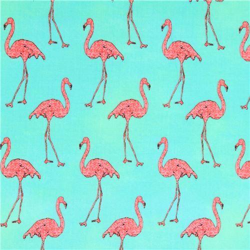green lime green Robert Kaufman pink flamingo fabric Beach Divas