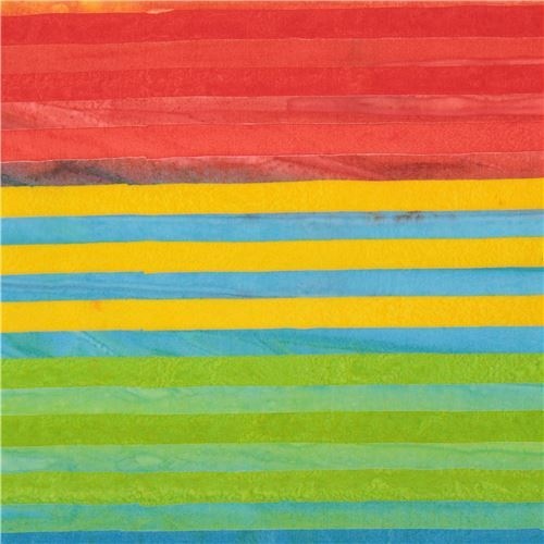colorful Robert Kaufman stripe tie dye Batik look fabric Elements