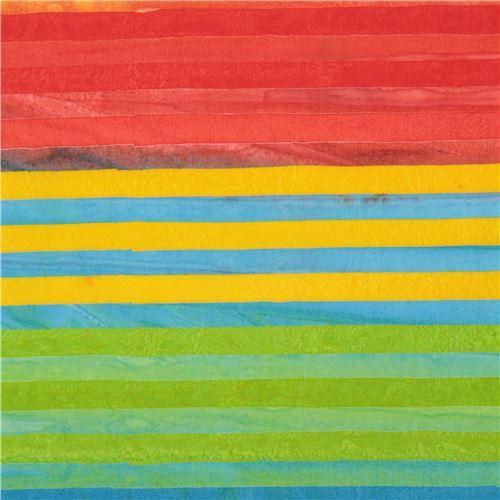 colorful Robert Kaufman stripe tie dye Batik look fabric Elements