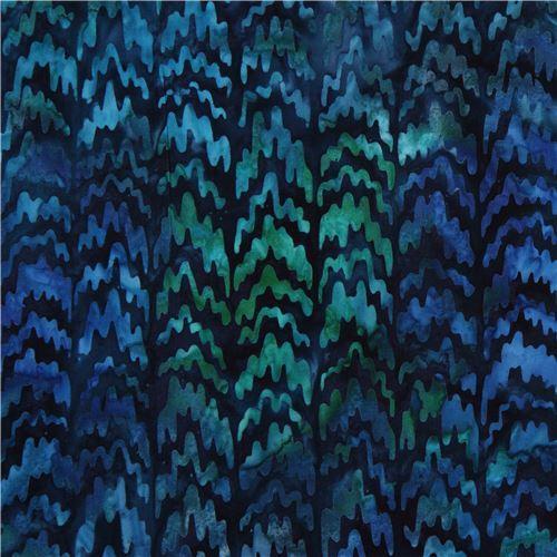 dark blue Robert Kaufman squiggle shape tie dye Batik look fabric Reflections 2