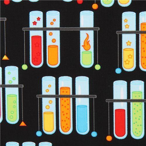 black test tube fabric by Robert Kaufman