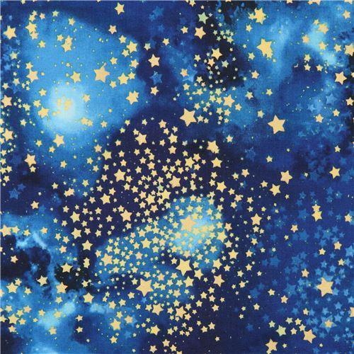 embellished blue star Robert Kaufman fabric