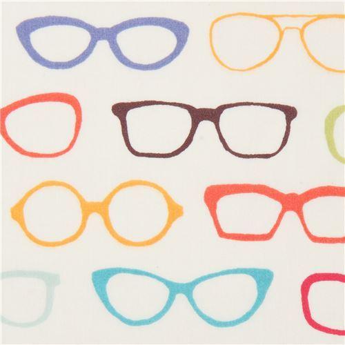 cream Birch organic fabric with glasses