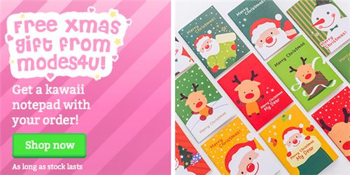 You can get a super cute notepad for free with your order!