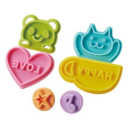 6 animal word shape toast food stamp