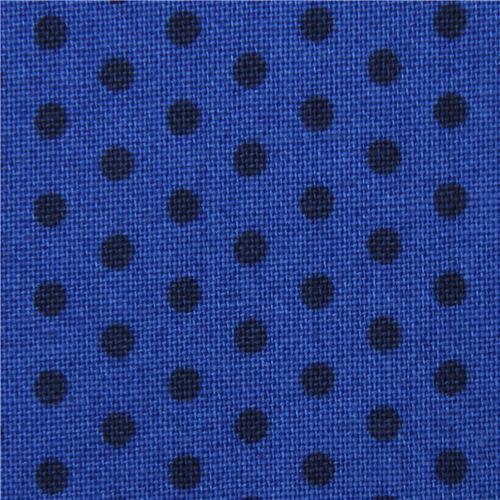 Spot On mini dot black Robert Kaufman dark blue fabric