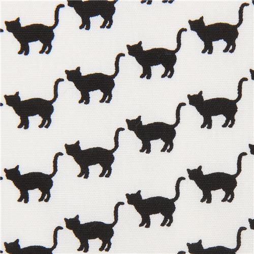 cat animal black Robert Kaufman white fabric Sevenberry Mini Prints