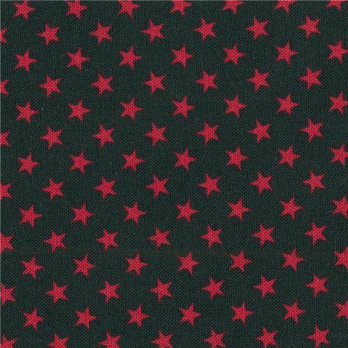 navy blue Robert Kaufman mini red star fabric Sevenberry Classiques