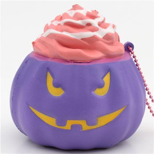 cute purple glow in the dark pumpkin Halloween scented squishy by Puni Maru