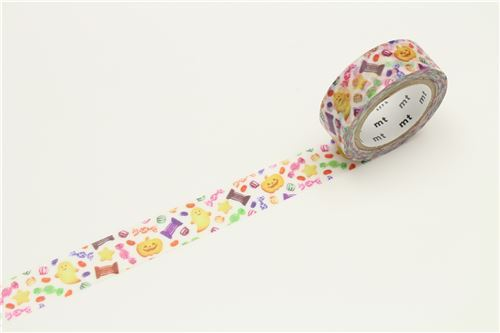 mt Washi Masking Tape white deco tape colorful candy Happy Halloween