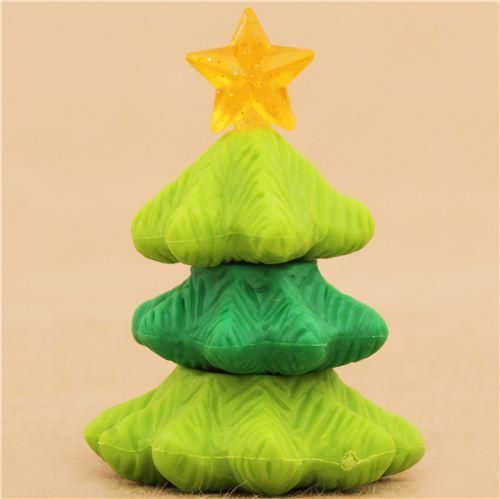 green Christmas tree Xmas eraser by Iwako from Japan