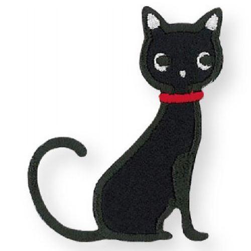 black cat iron-on transfer sheet 1 piece