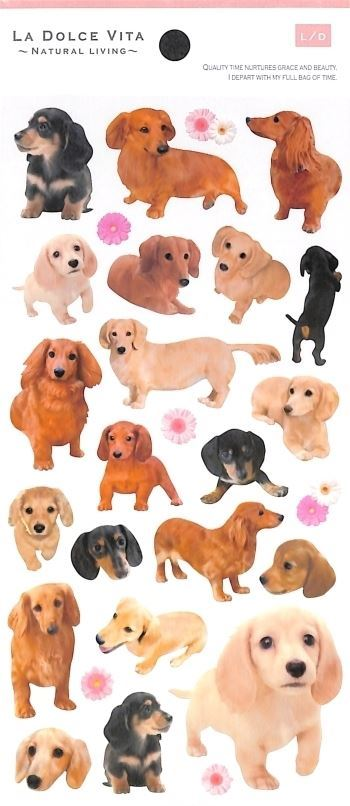 cute kawaii puppy dog animal stickers by Mind Wave
