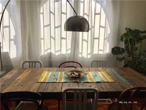 Ma Me Mi Mo's beautiful table spread using our Birch fabrics!