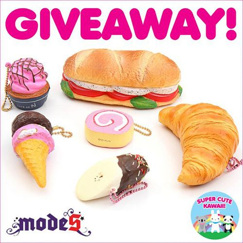 Join our Squishy Giveaway with Super Cute Kawaii!