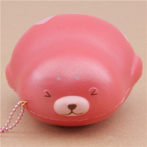cute pink mochi seal animal scented squishy by Puni Maru