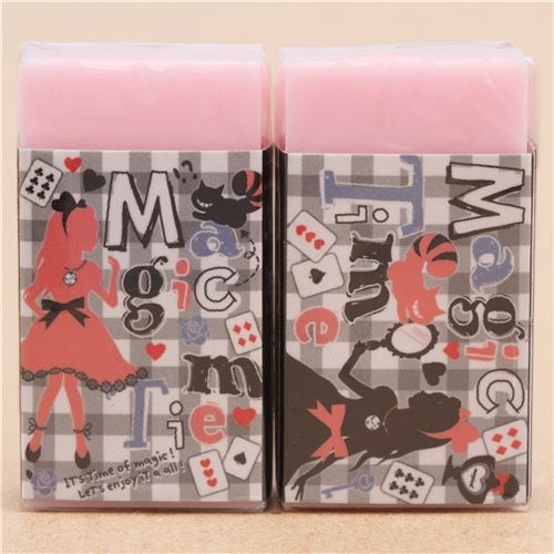 cute pink Alice in Wonderland eraser from Japan