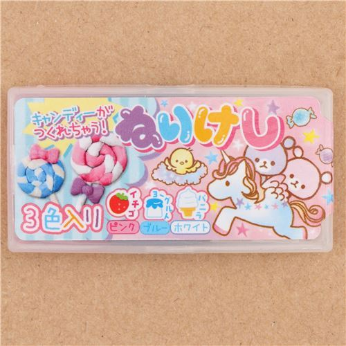 cute scented clay lollipop eraser from Japan