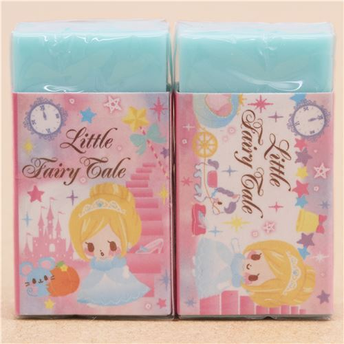 cute turquoise cinderella fairy tale scented eraser from Japan