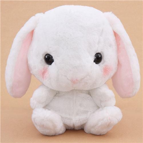 big white bunny rabbit Poteusa Loppy backpack plush from Japan