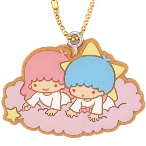 Little Twin Stars purple cloud bendy keychain