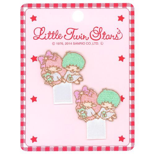 cute Little Twin Stars Kiki Lala decoration iron-on transfer tag 2 pieces