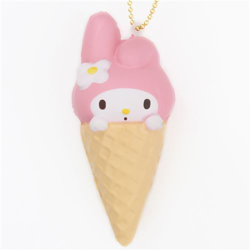 cute My Melody ice cream cone squishy for bag