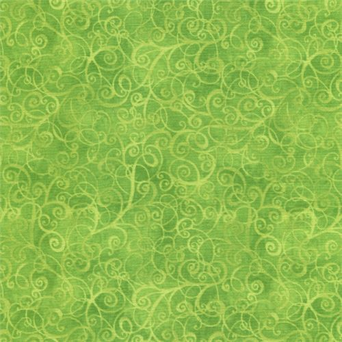 lime green cute swirl pattern fabric Timeless Treasures