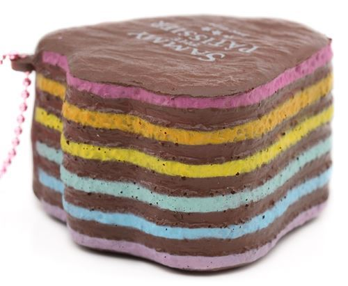brown duck foot shape rainbow cake squishy charm cellphone charm kawaii