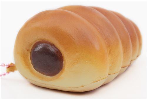 cute brown cornet chocolate filling squishy charm cellphone charm kawaii