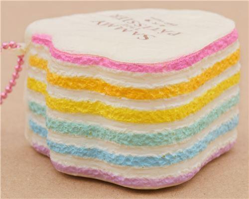 light cream duck foot shape rainbow cake squishy charm cellphone charm kawaii