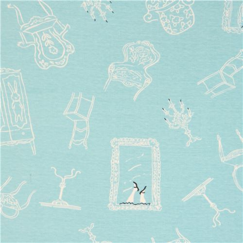 turquoise with cupboard chair picture frame birch knit organic fabric USA