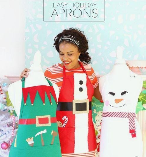 Kawaii Xmas aprons by damasklove.com