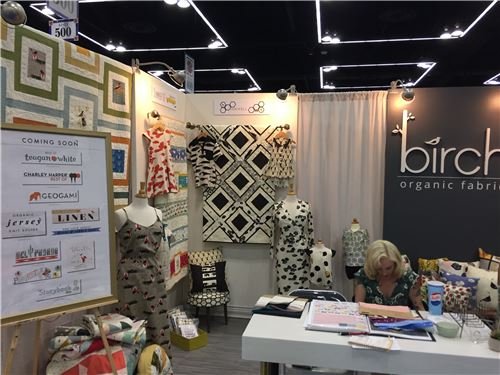 Birch's booth display