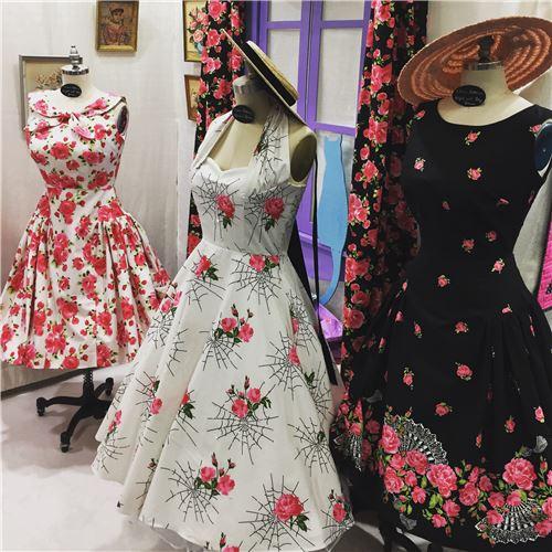 Stunning dresses made from Michael Miller fabrics