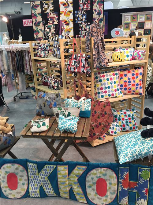 Kiyohara's booth display
