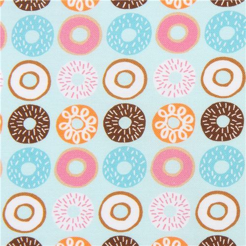light blue Robert Kaufman fabric donut dessert Suzys Minis