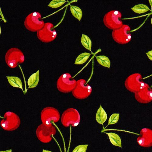 pretty black cherry fabric by Robert Kaufman