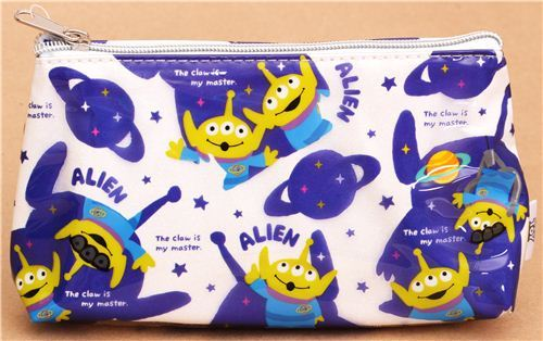 white Toy Story Alien glitter pencil case from Japan