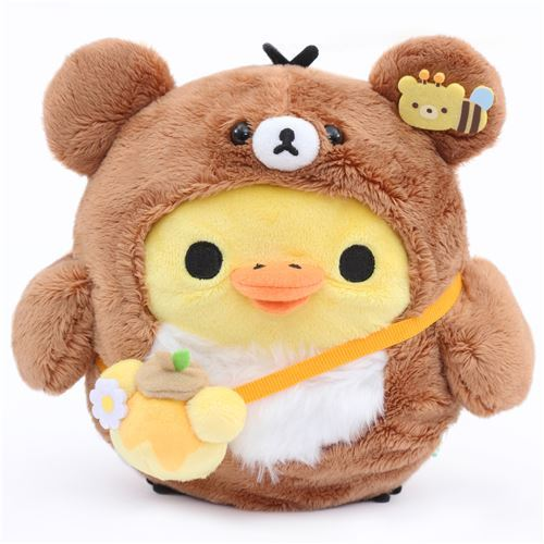cute Kiiroitori chick in brown bear costume by San-X